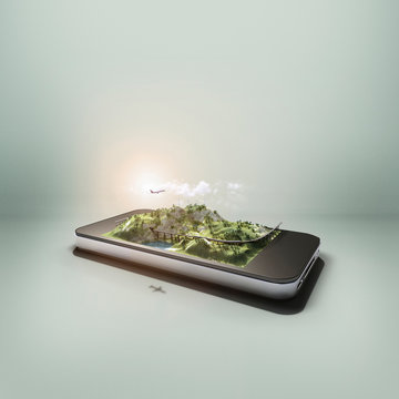 Augmented reality on a smartphone