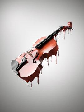 Melting violin