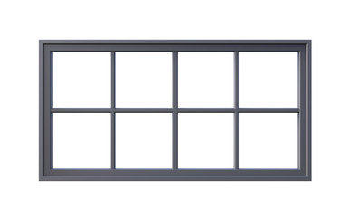 3d Illustration of  window frame isolated on white