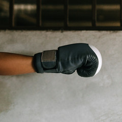 Hand with box gloves