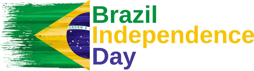 Brazil independence day holiday celebrate card Fototapete
