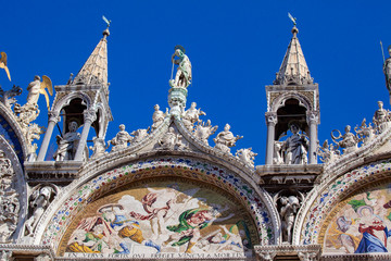 Basilica di San Marco or St Mark's Basilica, Venice, Italy