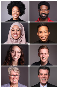 Beautiful multicultural ethnicities from different people around the world