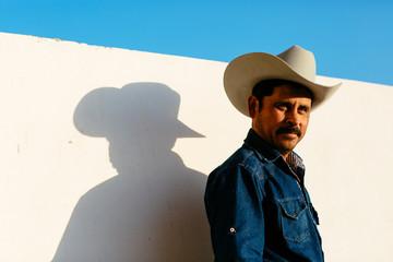 Portrait of man wearing hat, Mexico
