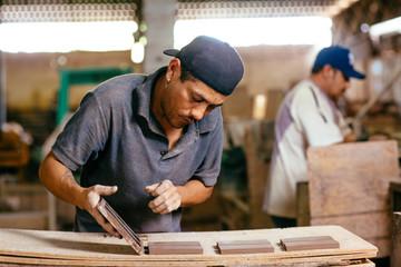 Men working in workshop, Mexico