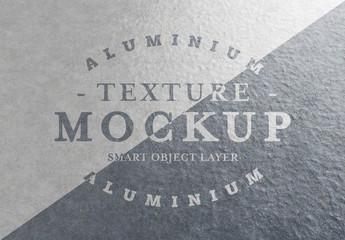 Aluminium Metal Plate Texture Mockup