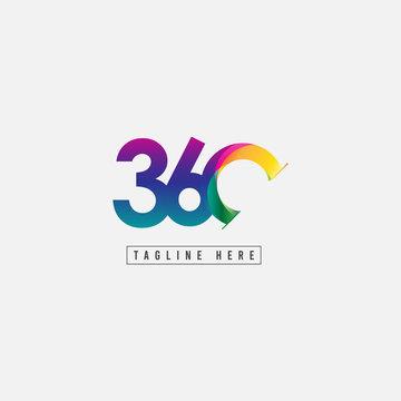 360 Logo Vector Template Design Illustration