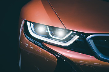 Headlight car Projector/LED of a modern luxury technology