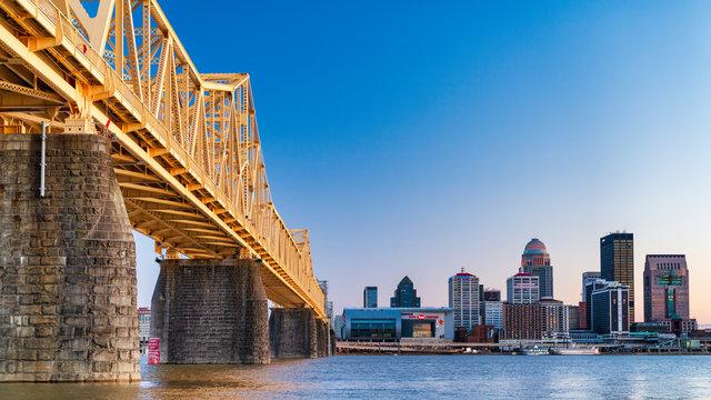 Bridge to Louisville skyline