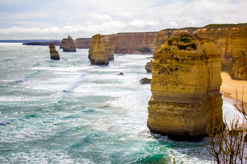 A view of the Twelve Apostles along the Great Ocean Road, Victoria Australia