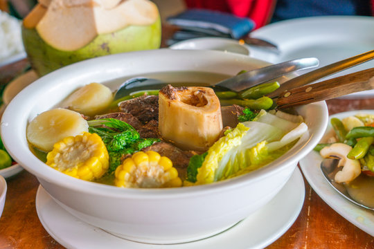 Philippines famous dish bulalo made from beef marrow bones
