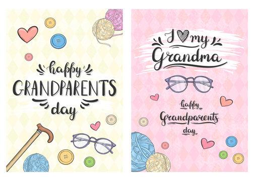 Cards Happy Grandparents day, I love my Grandma