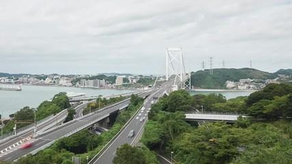 Wall Mural - 関門橋 タイムラプス
