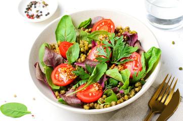 Mung Bean Cherry Tomato Salad, Tasty Vegetarian Food