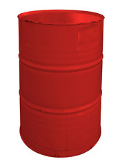 Single red metallic barrel
