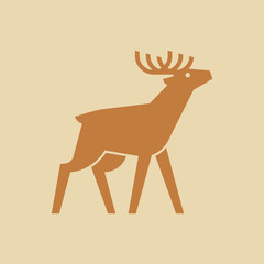 Deer logo. Icon design. Template elements