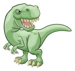 A T Rex Tyrannosaurus dinosaur cartoon character