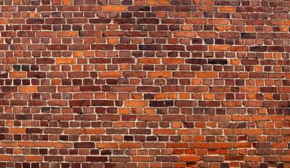 Alte Backsteinwand als Textur. Roter Vintage-Hintergrund