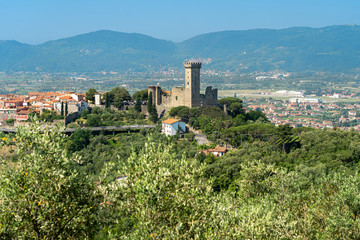 Panoramic view of Castelnuovo Magra, Liguria