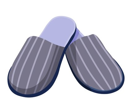 Male slippers, home shoes or footwear with striped print