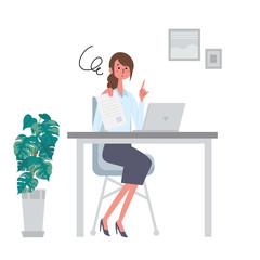 書類をもつ女性 イラスト 申し込み 契約 サイン ビジネス