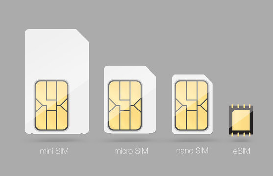Set of SIM cards. Vector illustration. Ready for your design. EPS10.
