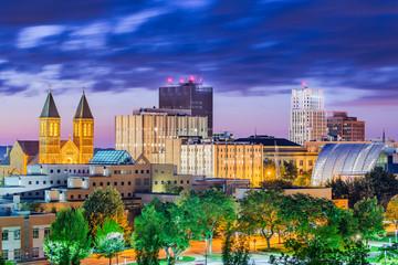 Fototapete - Akron, Ohio, USA Town Skyline