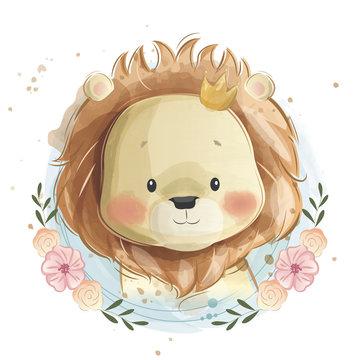 Cute Lion Portrait