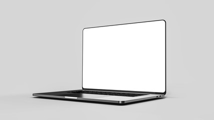 Laptop template isolated on white. Mockup.