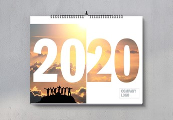 2020 Landscape Wall Calendar Layout