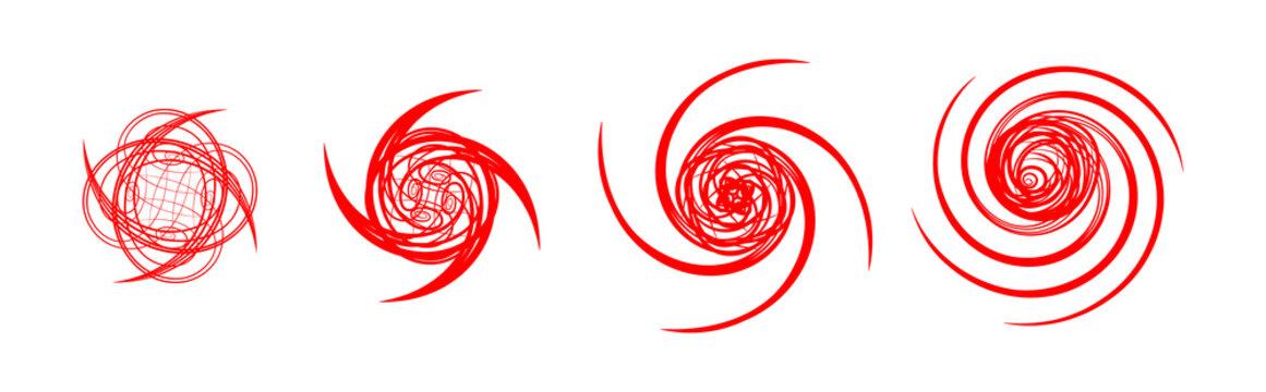 Hurricane Warning Signs Graphic Set
