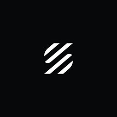 Outstanding professional elegant trendy awesome artistic black and white color S SS DP PD initial based Alphabet icon logo.