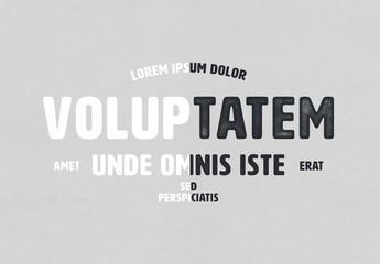 Halftone Print Effect Mockup