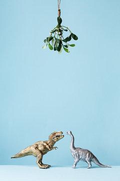 Dinosaurs under the mistletoe