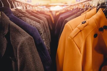 Shop outerwear autumn coat for men in row
