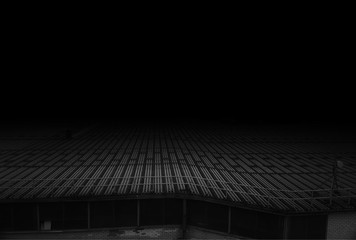 Blank black and white roof city background hd