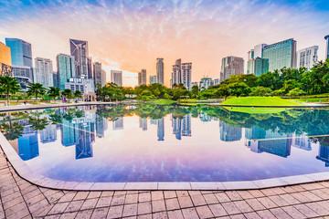 Fotobehang Kuala Lumpur KLCC Park in the morning. Located in Kuala Lumpur, Malaysia.