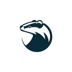 badger head logo illustration