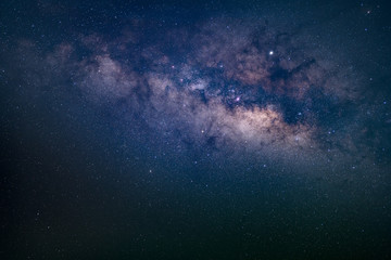 Closeup image of Milky way galaxy on night sky with stars and space dust in the universe, nature...