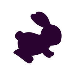 cute and little rabbit silhouette