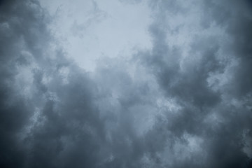 Abstract texture background of Dark sky with storm clouds.