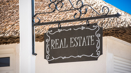 Street Sign to Real Estate