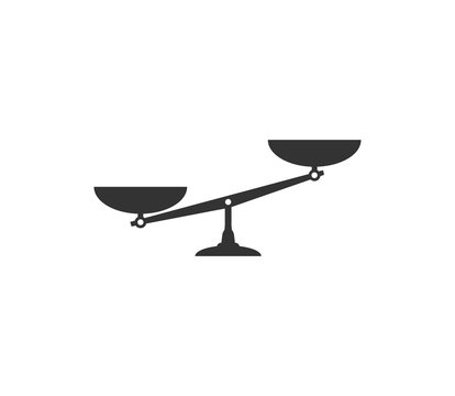 Balance scale icon. Vector illustration, flat design.