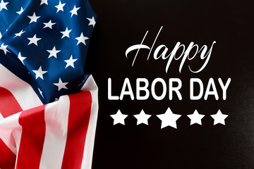 Happy Labor day banner, american patriotic background - Image