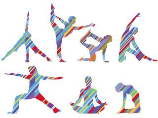 Gymnastik und Yoga, Sport Training, Set