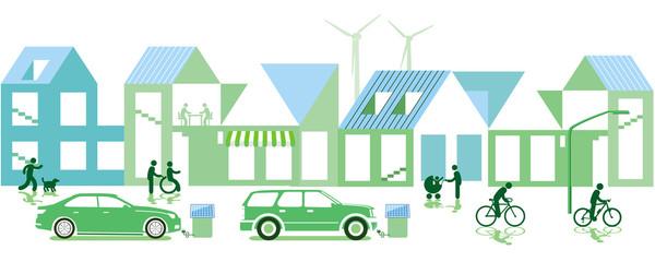 grüne Stadt mit Nachhaltiger Entwicklung