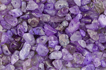 Purple Amethyst Chip Stone beads with hole to make jewelry.