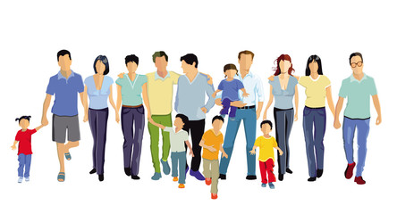 Familien in der Freizeit, Gruppe von Menschen