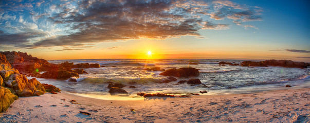 Aluminium Prints Salmon Sunset on 17 Mile Drive