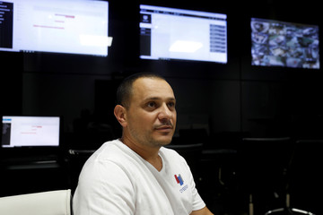 Ofir Hason, CEO of Cybergym, a cyber-warfare training facility backed by the Israel Electric Corporation, looks on during an interview with Reuters at their training center in Hadera, Israel